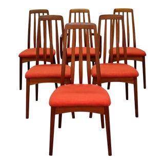 Set of 6 Mid-Century Danish Modern Hornslet Style Teak Dining Chairs