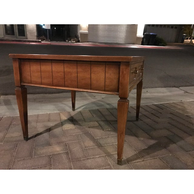 Contemporary Mid-Century Single Drawer Oak Coffee Table For Sale - Image 3 of 5