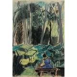 Image of Modern Brazilian Landscape Pastel by Tatiana McKinney For Sale