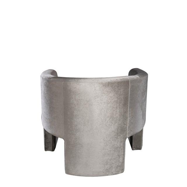 Leblon Barrel Chair in Gray For Sale - Image 4 of 5