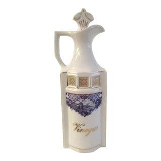 German Mid Century Porcelain Vinegar Cruet For Sale