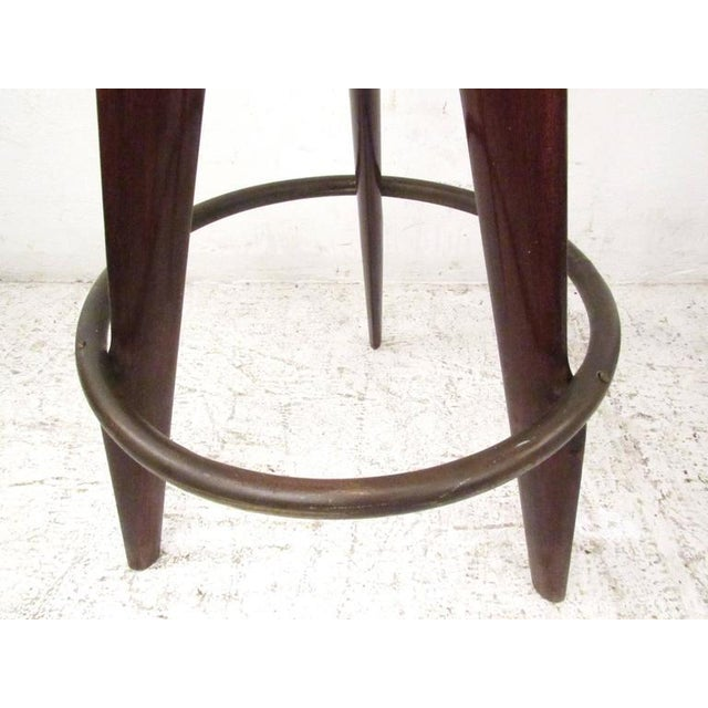 Italian Modern Bar Stools - A Pair For Sale - Image 4 of 5
