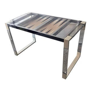 1970s Modern Lucite Game Table For Sale