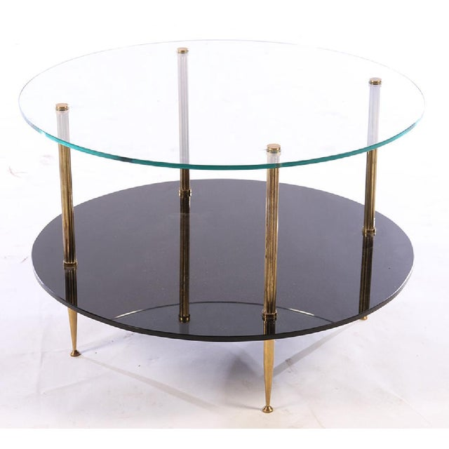 1950s French Mid-Century Glass Top Coffee Table - Image 2 of 4