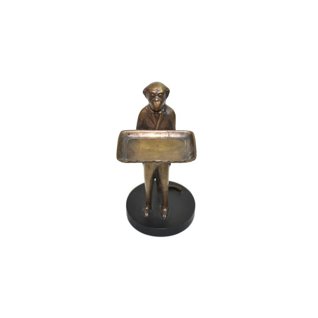 Vintage Brass Monkey Butler Card Holder - Image 2 of 6
