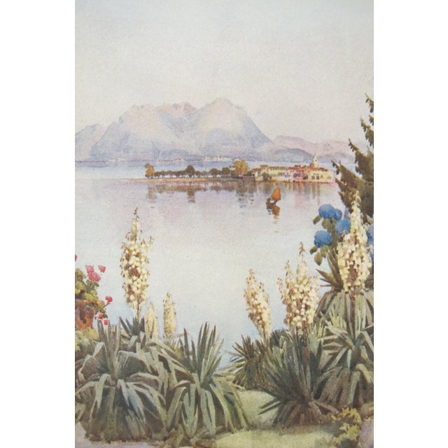 """About The Poster: This piece originates from an exceptionally rare book, """"The Italian Lakes"""", which is a compilation of..."""