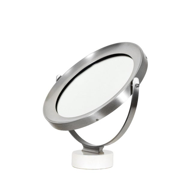 Sergio Mazza 1960s Pivoting Vanity-Table Mirror by Sergio Mazza, White Marble, Italy For Sale - Image 4 of 10