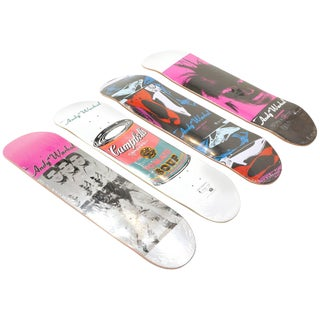 Andy Warhol Skateboard Decks, Set of Four, Three Elvis, Campbells Soup For Sale