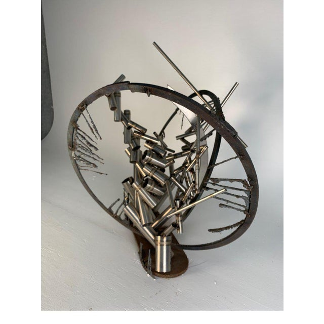 """Late 20th Century D. Phillips """"Gates"""" Welded Steel Sculpture For Sale - Image 9 of 11"""