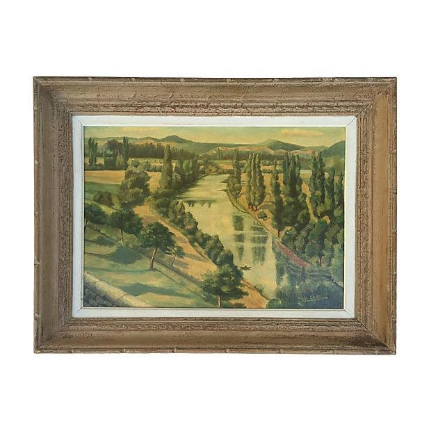 1955 French Landscape Oil Painting - Image 1 of 8