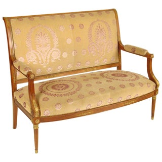 Empire Style Settee For Sale