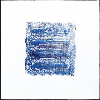 """Water & Sky 3"" Minimalist Original Artwork by Len Klikunas For Sale"