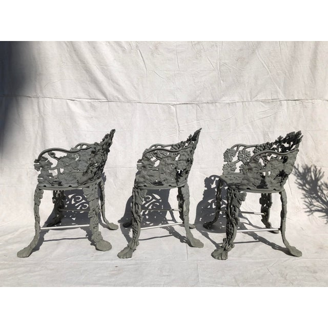 Antique victorian garden chairs made of cast iron. Excellent condition. Set of Three