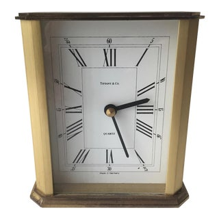 Tiffany & Co. Brass Desk Clock-Germany For Sale