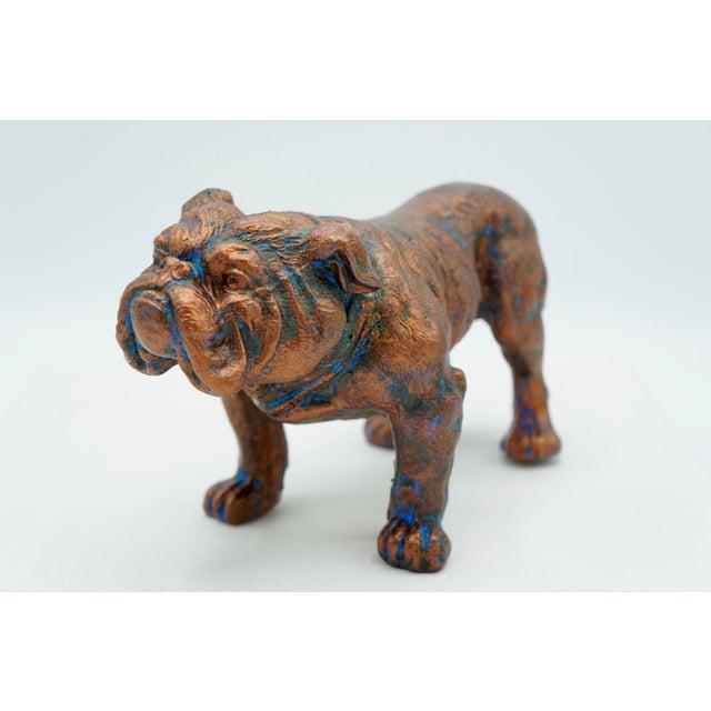 Copper Mid-Century Modern Bulldog Statue For Sale - Image 8 of 8