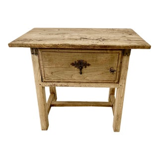 Spanish Elm Side Table For Sale
