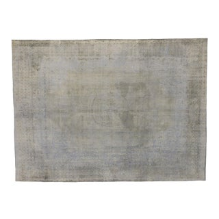 Vintage Turkish Gray Texture Rug With Industrial Style - 09'06 X 12'11 For Sale
