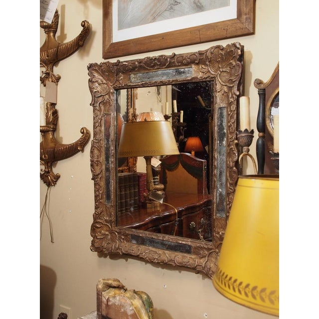 French 18th Century French Gilded Parclose Mirror For Sale - Image 3 of 6