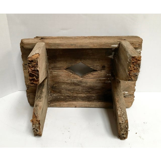 Antique Primitive Handcrafted Farm Stool For Sale - Image 9 of 11