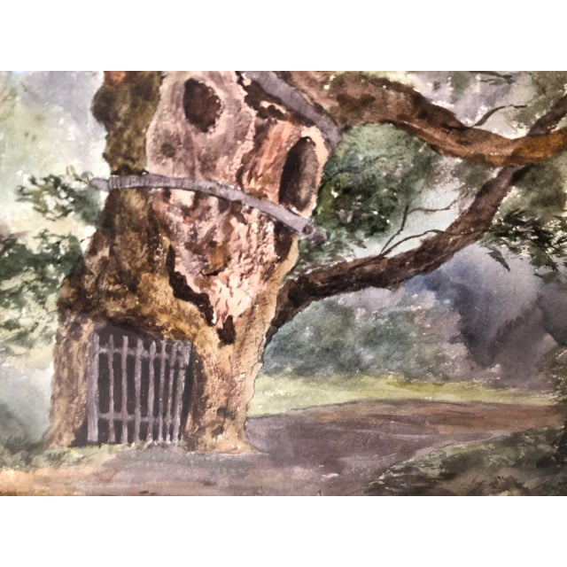 1891 Impressionist English Landscape Watercolor Painting, Framed For Sale In Los Angeles - Image 6 of 10