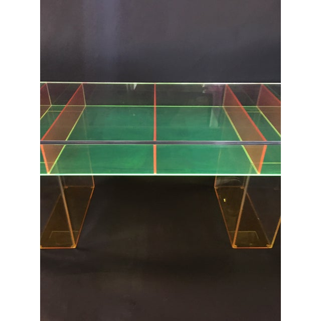 Modern Modern Multi-Color Lucite Coffee Table For Sale - Image 3 of 7