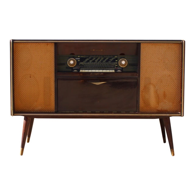 Mid Century German Emud Stereo Console For Sale