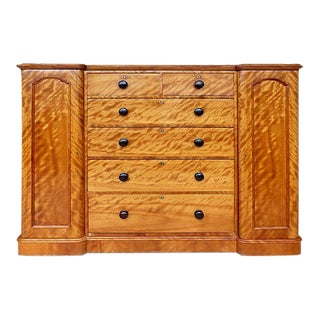 19th Century Tall Maple Biedermeier Dresser For Sale