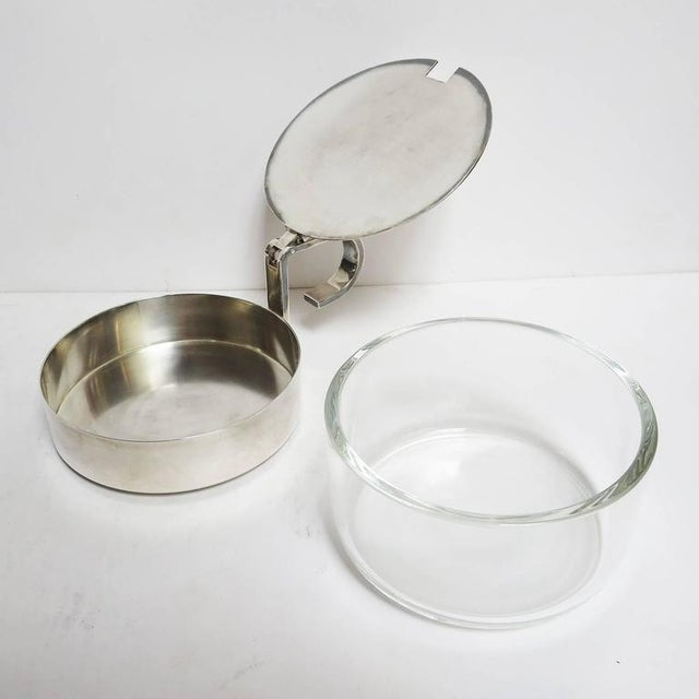 Mid-Century Modern Christofle Silver and Crystal Sugar Bowl For Sale - Image 3 of 8