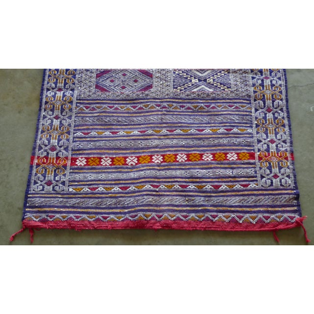 Islamic Multi-Colored Hand Woven Moroccan Rug For Sale - Image 3 of 7