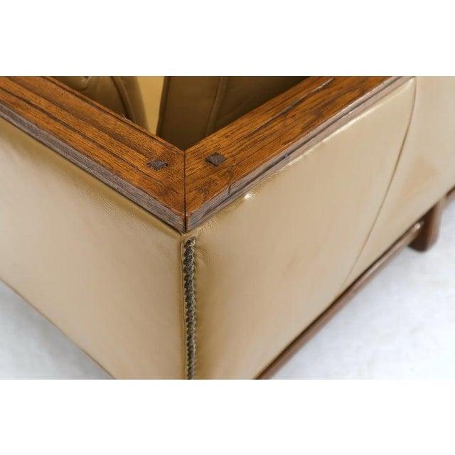 Mid-Century Modern Mid-Century Modern Tan Leather Oak Frame Sofa by Ranch Oak For Sale - Image 3 of 13
