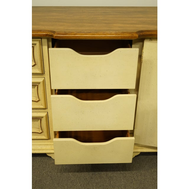 20th Century French Provincial Stanley Furniture Cream Painted Triple Door Dresser For Sale In Kansas City - Image 6 of 12