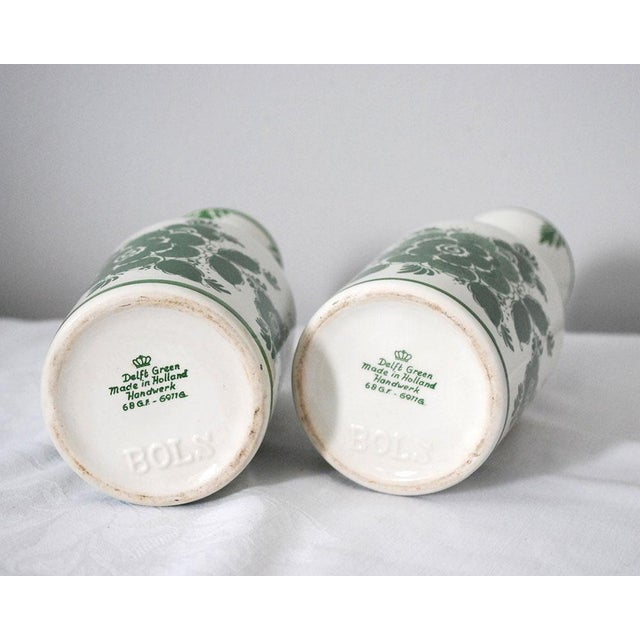Green 1970s Shabby Chic Delft Green Carafes - a Pair For Sale - Image 8 of 9