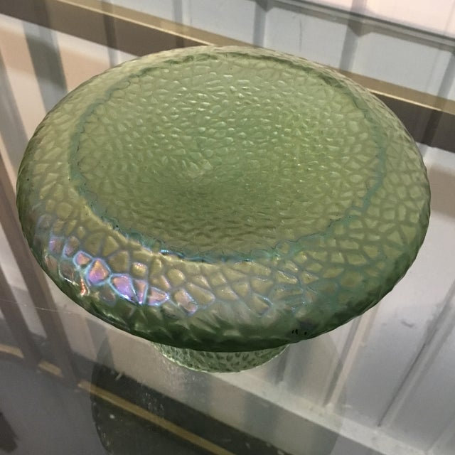 Kralik Sohn Martelle Pattern Art Glass Vase. Super green example We ALWAYS accept reasonable offers. Before it's gone...