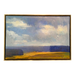 """Clouds of White"" Painting by Ira Barkoff For Sale"