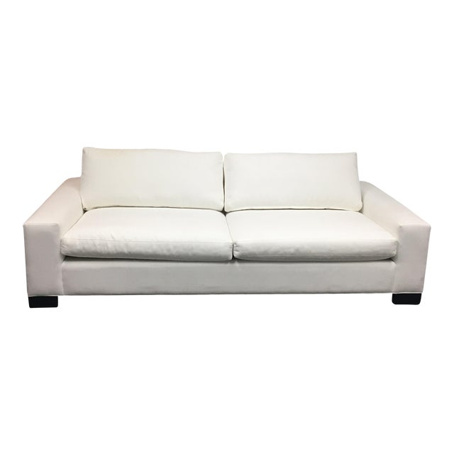 Room & Board White Ultasuede Townsend Sofa - Image 1 of 8