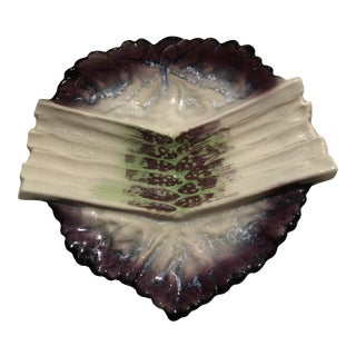 French Handmade Holiday Asparagus Dish For Sale