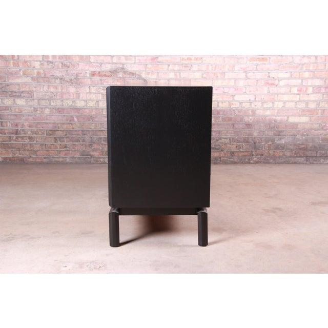 Edmond Spence Swedish Modern Ebonized Sideboard Credenza, Newly Refinished For Sale - Image 12 of 13