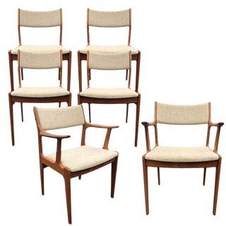 1980s Vintage Danish Modern Scandinavia Woodworks Teak Dining Chairs - Set of 6 For Sale