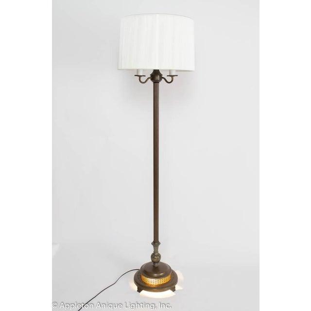 Metal Restored Vintage 6 Way Floor Lamp With Mica Nightlight For Sale - Image 7 of 8