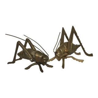 Vintage Brass Grasshoppers - a Pair For Sale