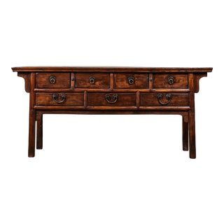 18th C. Ming Style Elm Sideboard For Sale