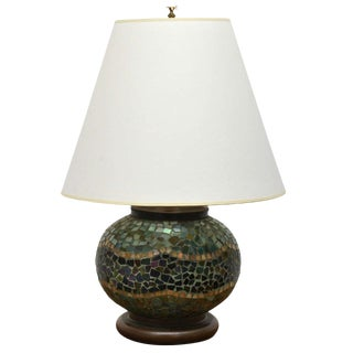 Arts + Crafts Mosaic Table Lamp For Sale