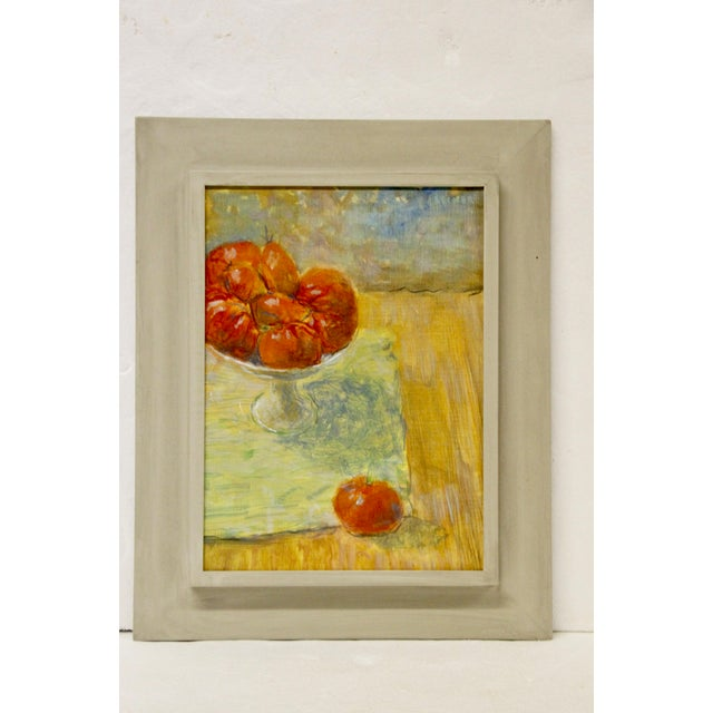 Linen Tomato Still Life Painting For Sale - Image 7 of 7