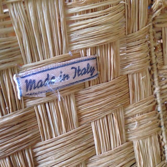 Vintage Italian Straw/Wicker Duck Basket - Image 9 of 11