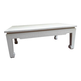 Chinese Style Linen Wrapped Coffee Table For Sale
