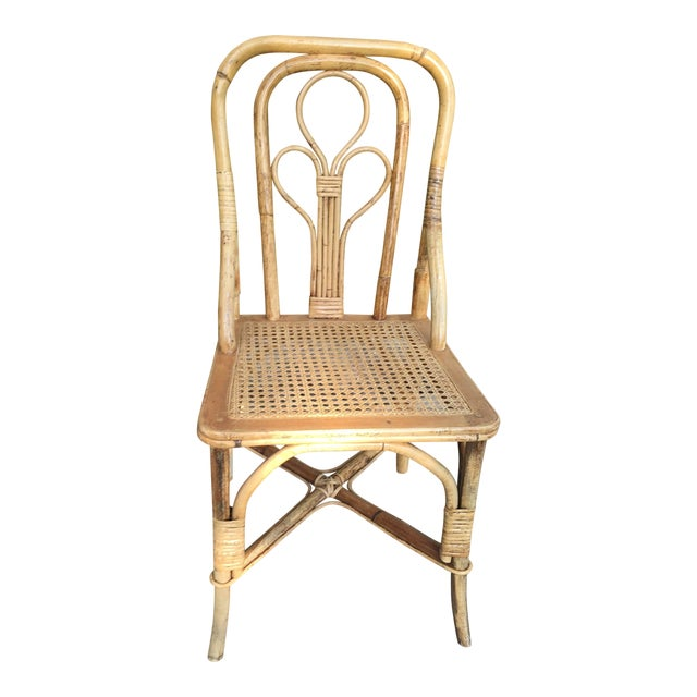 Vintage Cane Bent Rattan Chair For Sale