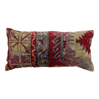 1960s Vintage Armed Orchid Kilim Lumbar Pillow For Sale