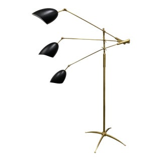 Visual Comfort Aerin Collection Sommerard Triple Arm Floor Lamp For Sale