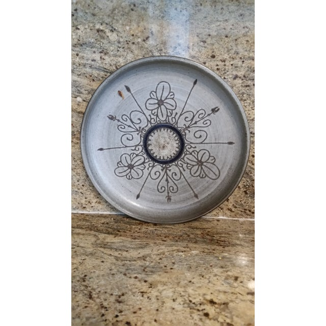 Mid-Century Modern Last Call 1980 Artisan Pottery Tray or Platter For Sale - Image 3 of 6