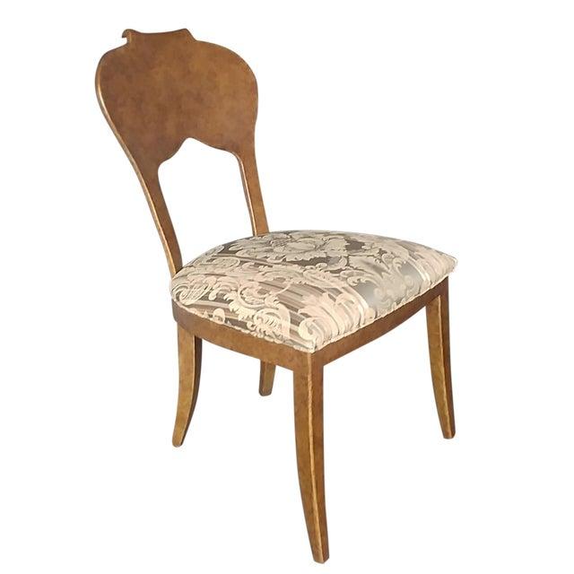 Henredon Furniture Arabesque Solid Antiqued Metal Ladies Desk Chair For Sale